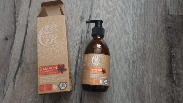 Recenze: Tierra Verde Kaštanový šampon pro posílení vlasů s pomerančem